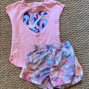 Nike Girls Short Set Shirt 6 Shorts 6X